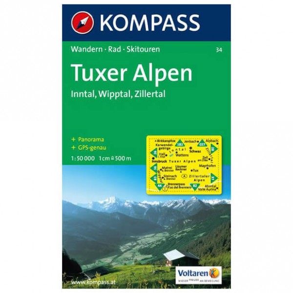 Kompass - Tuxer Alpen - Vaelluskartat
