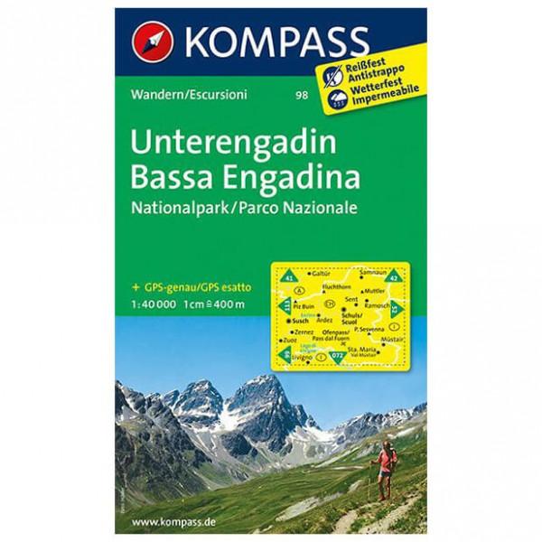 Kompass - Unterengadin - Hiking Maps