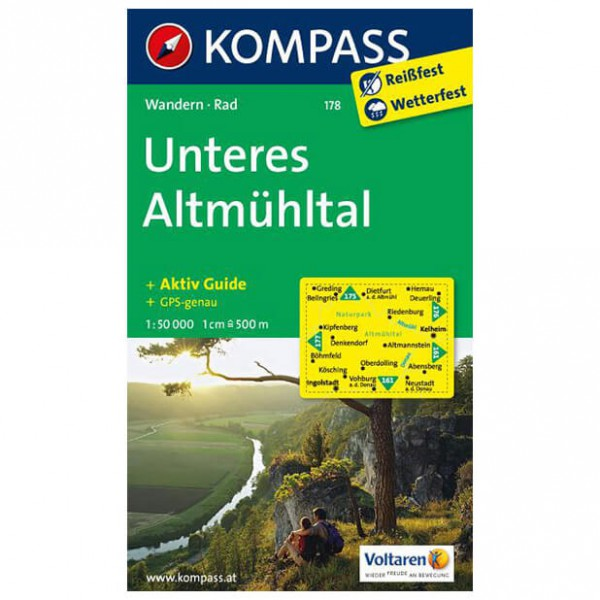 Kompass - Unteres Altmühltal - Hiking Maps