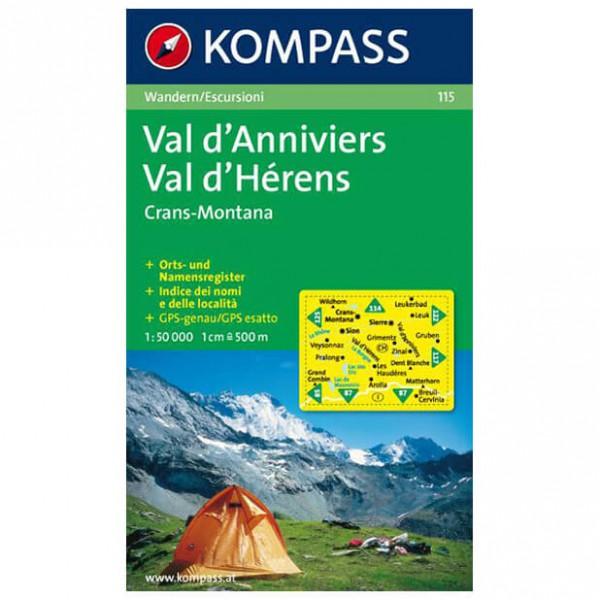Kompass - Val d'Anniviers - Wandelkaarten