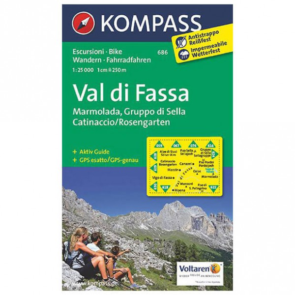 Kompass - Val di Fassa - Hiking Maps