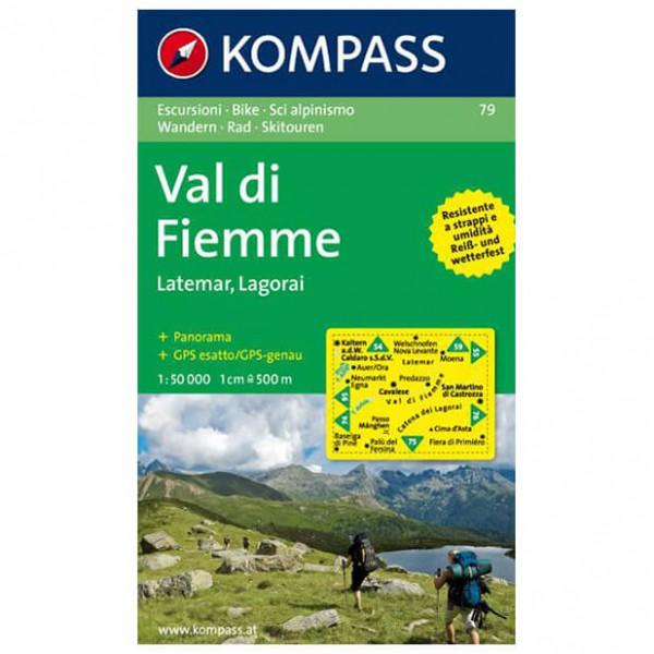 Kompass - Val di Fiemme /Fleimstal Latemar-Lagorai - Hiking map