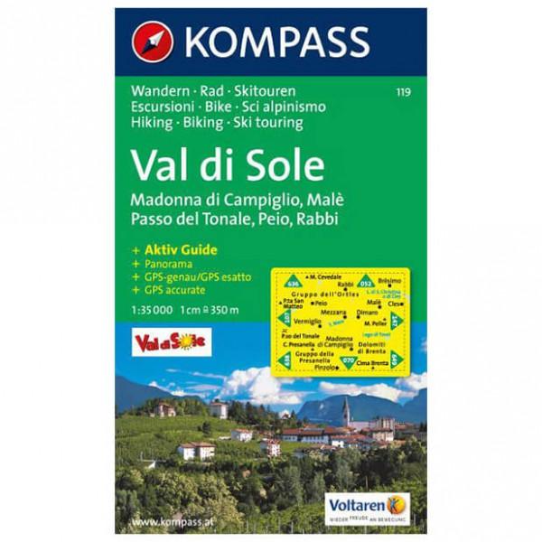 Kompass - Val di Sole - Mapa de senderos