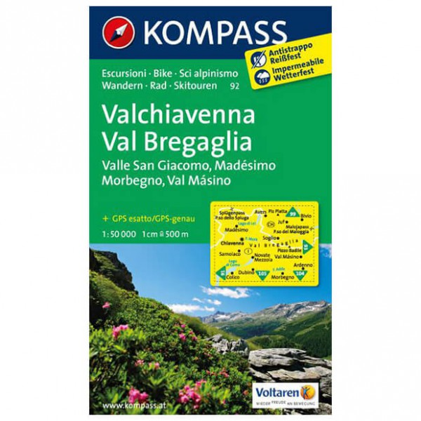 Kompass - Valchiavenna - Hiking Maps