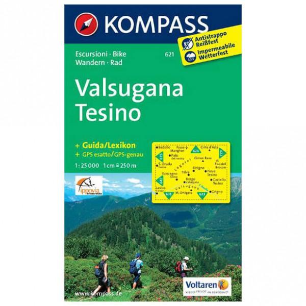 Kompass - Valsugana - Tesino - Vandrekort