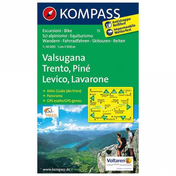 Kompass - Valsugana - Trento - Piné - Levico - Vandrekort