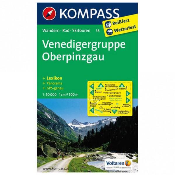 Kompass - Venedigergruppe - Wanderkarte