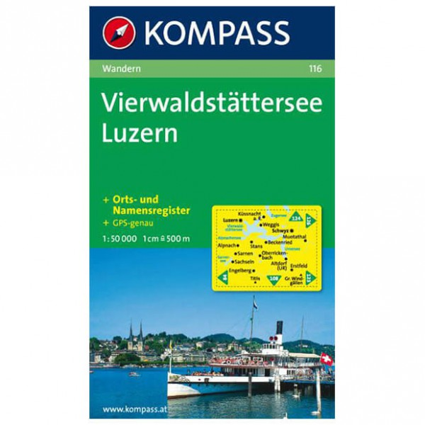 Kompass - Vierwaldstätter See - Hiking Maps