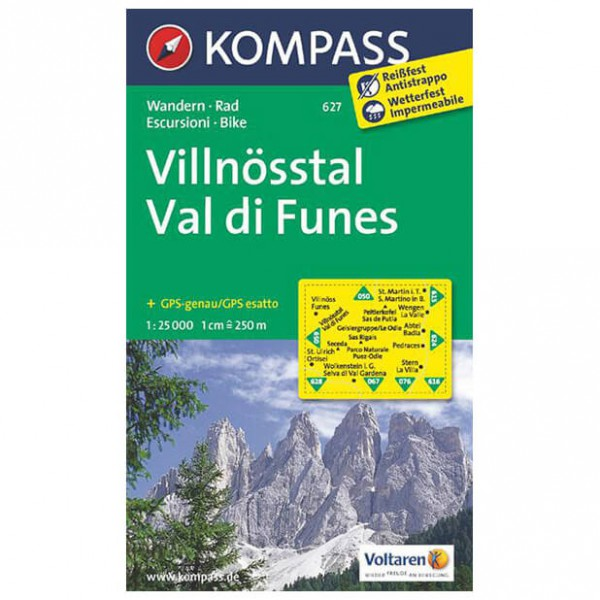 Kompass - Villnösstal /Val di Funes - Cartes de randonnée