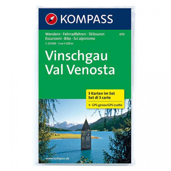 Kompass - Vinschgau - Cartes de randonnée