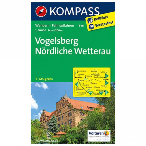 Kompass - Vogelsberg - Wandelkaarten