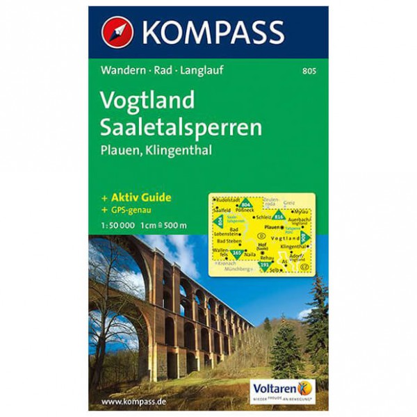 Kompass - Vogtland - Cartes de randonnée