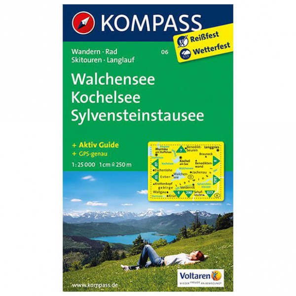 Kompass - Walchensee - Vandrekort