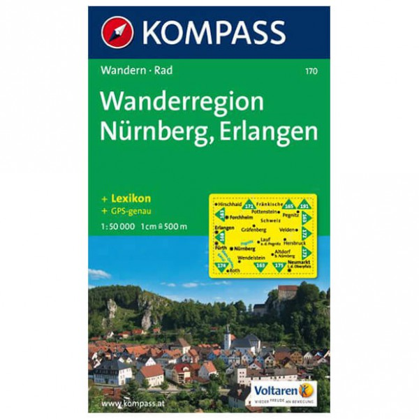 Kompass - Wanderregion Nürnberg - Wanderkarte
