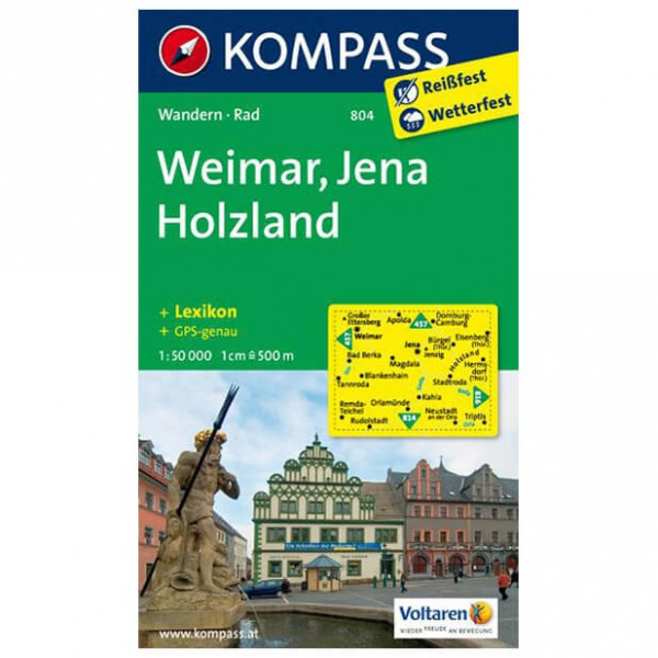 Kompass - Weimar/ Jena/ Holzland - Wanderkarte