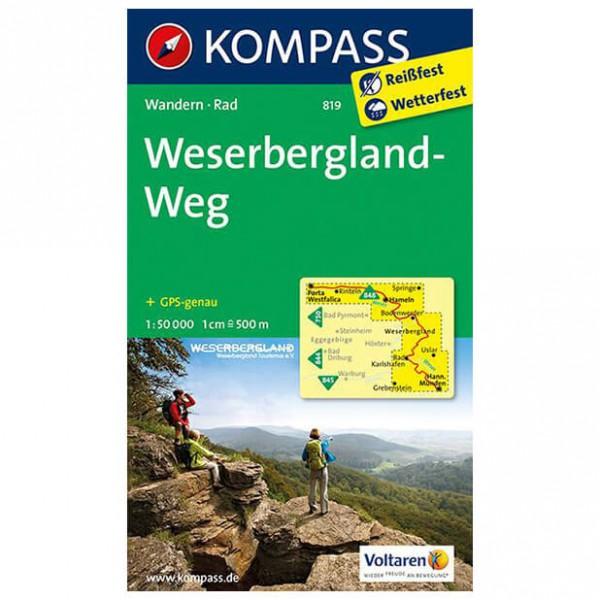 Kompass - Weserbergland-Weg - Wandelkaarten