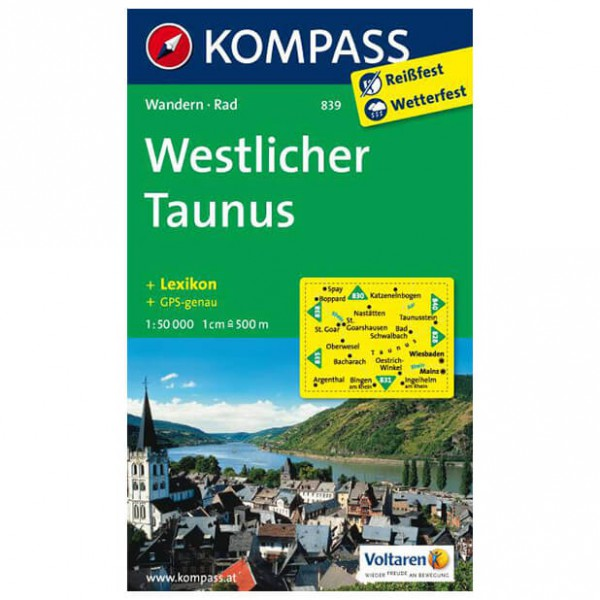 Kompass - Westlicher Taunus - Hiking Maps