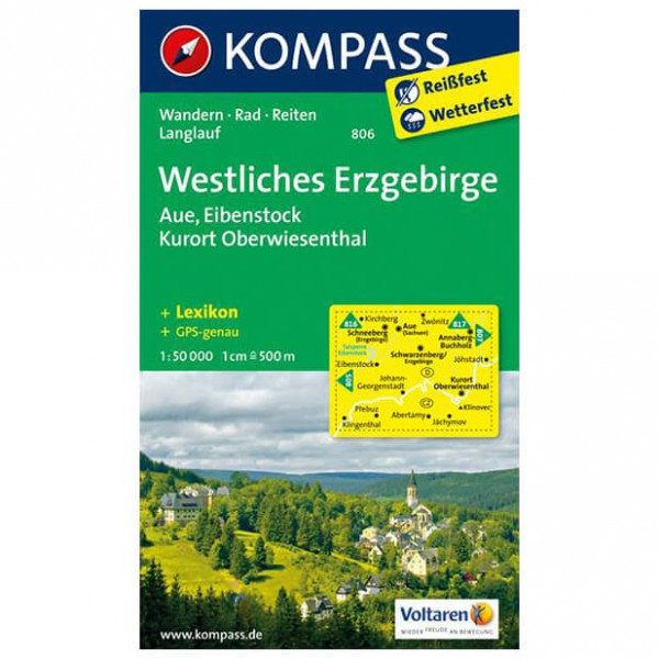 Kompass - Westliches Erzgebirge - Hiking map