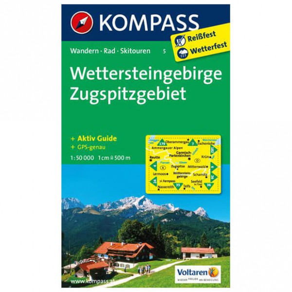 Kompass - Wettersteingebirge - Vaelluskartat