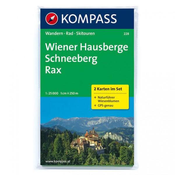 Kompass - Wiener Hausberge - Schneeberg - Rax - Wanderkarte