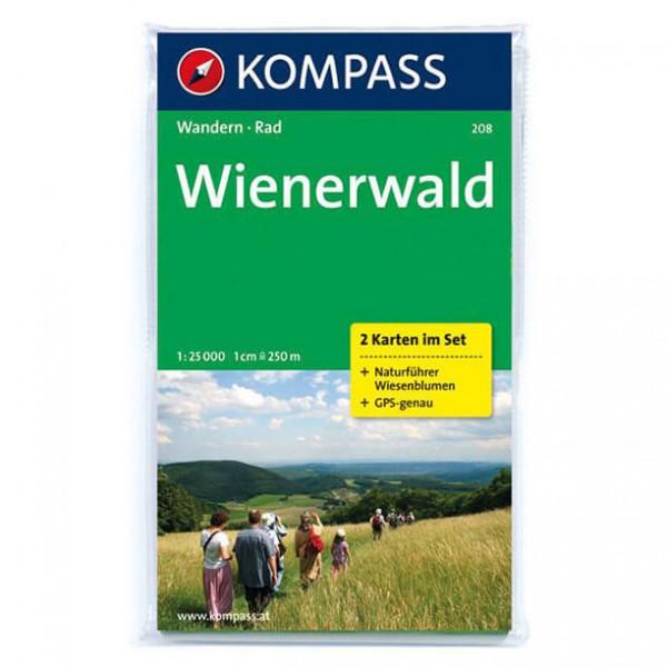 Kompass - Wienerwald - Wanderkarte 208