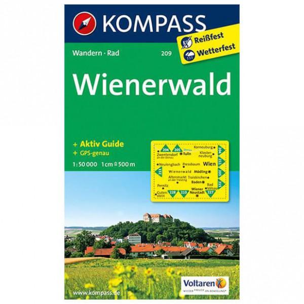 Kompass - Wienerwald - Wanderkarte 209 - Wanderkarte