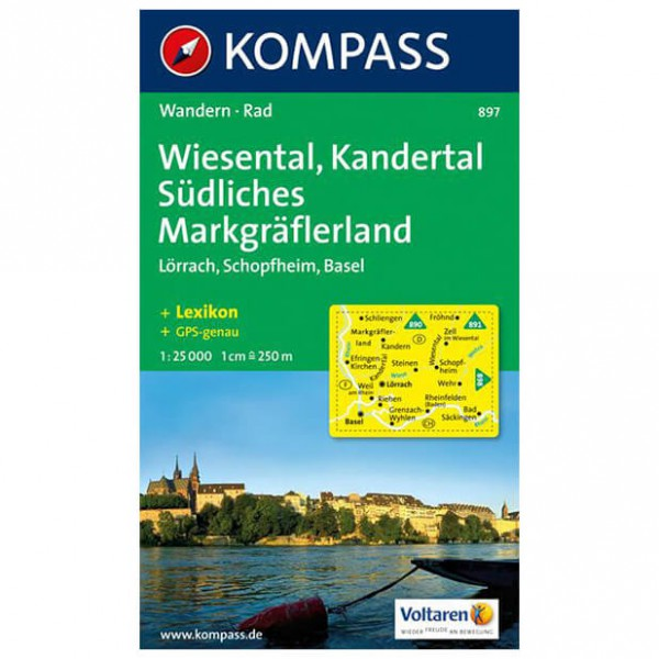 Kompass - Wiesental - Wanderkarte
