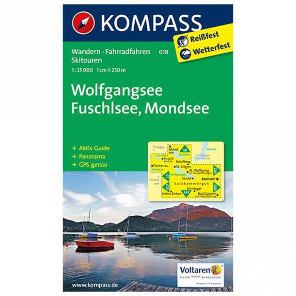 Kompass - Wolfgangsee - Cartes de randonnée