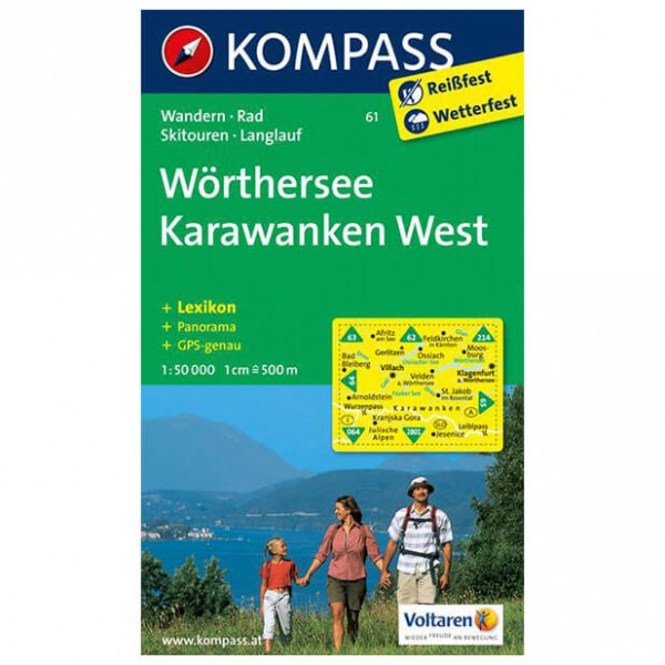 Kompass - Wörthersee - Karawanken West - Hiking map