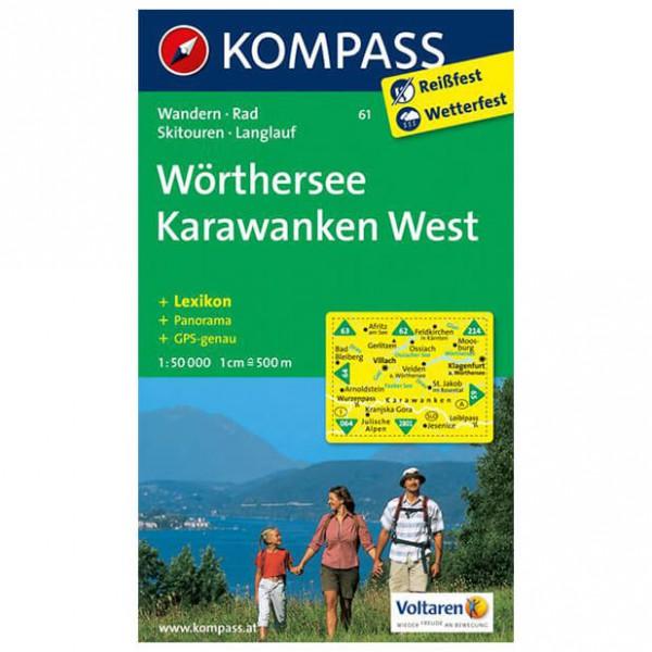 Kompass - Wörthersee - Karawanken West - Wanderkarte