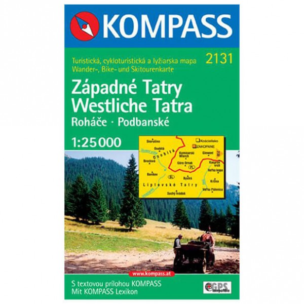 Kompass - Zapadne Tatry - Vandrekort