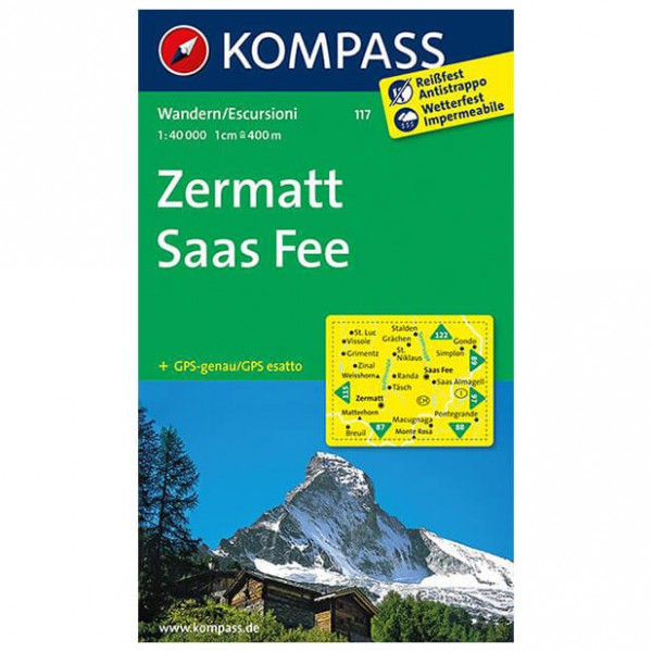 Kompass - Zermatt - Hiking Maps