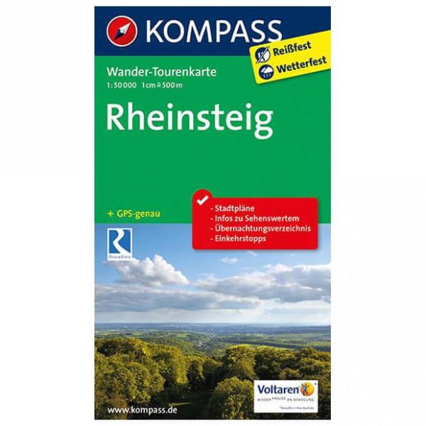 Kompass - Rheinsteig - Wander-Tourenkarte