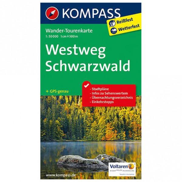 Kompass - Westweg Schwarzwald - Wander-Tourenkarte