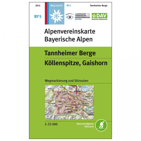 DAV - Tannheimer Berge, BY5 - Vandringskartor