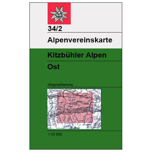 DAV - Kitzbüheler Alpen Ost, 34/2 (mit Wegmarkierungen) - Hiking map