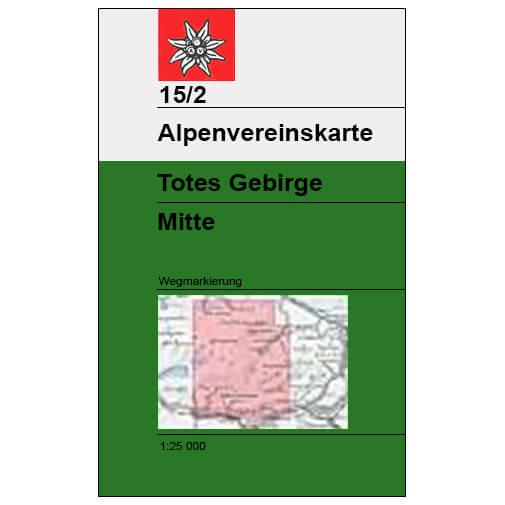 DAV - Totes Gebirge Mitte, 15/2 - Vaelluskartat