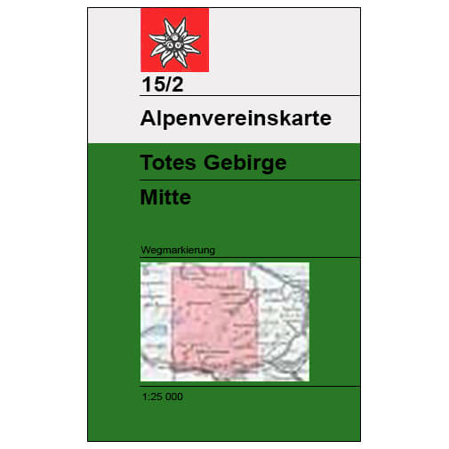 DAV - Totes Gebirge Mitte, 15/2 - Hiking map