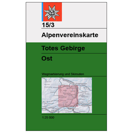DAV - Totes Gebirge Ost, 15/3 - Hiking map