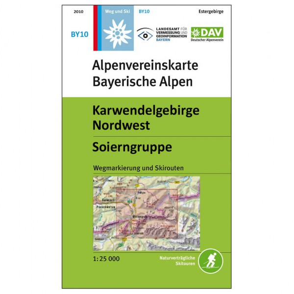 DAV - Karwendelgebirge Nordwest, BY10 - Hiking map