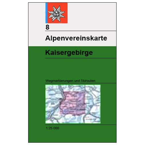 DAV - Kaisergebirge, Blatt 8 - Vaelluskartat