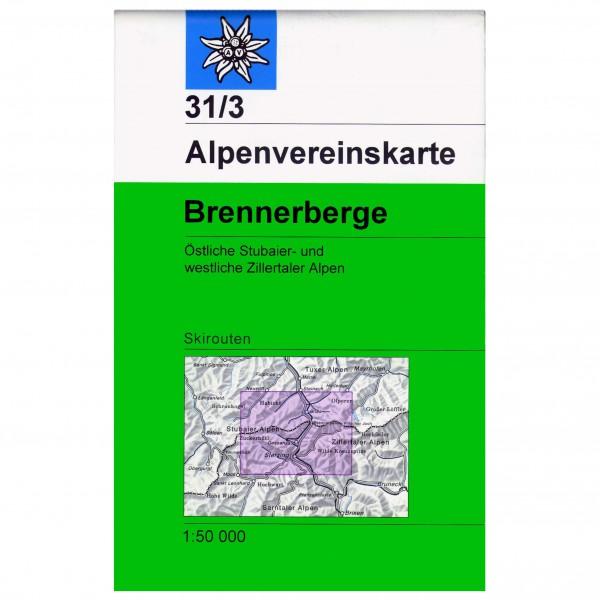 DAV - Brennerberge, 31/3 (mit Wegmarkierungen) - Wanderkarte