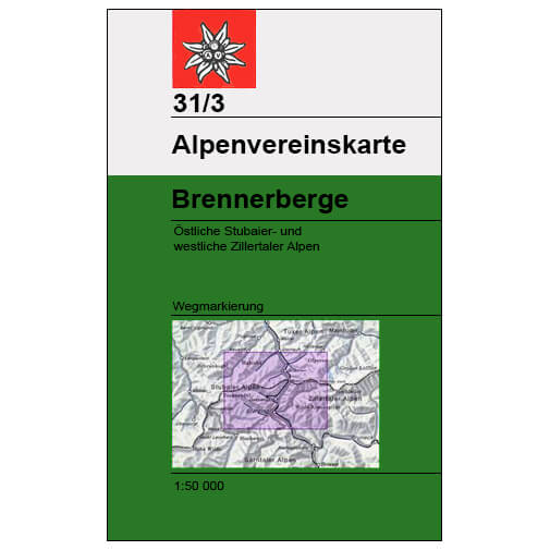 DAV - Brennerberge, 31/3 (mit Skirouten) - Wandelkaarten