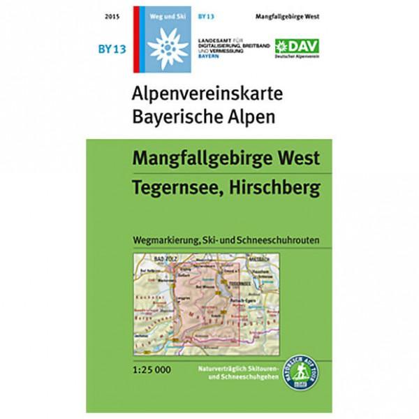 DAV - By 13 Mangfallgeb. West - Wanderkarte