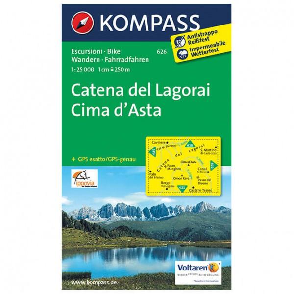 Kompass - Catena dei Lagorei - Mapa de senderos