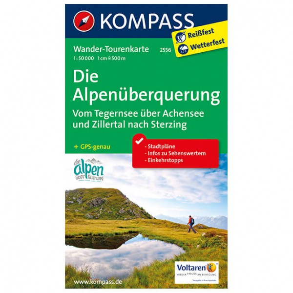 Kompass - Die Alpenüberquerung - Vaelluskartat