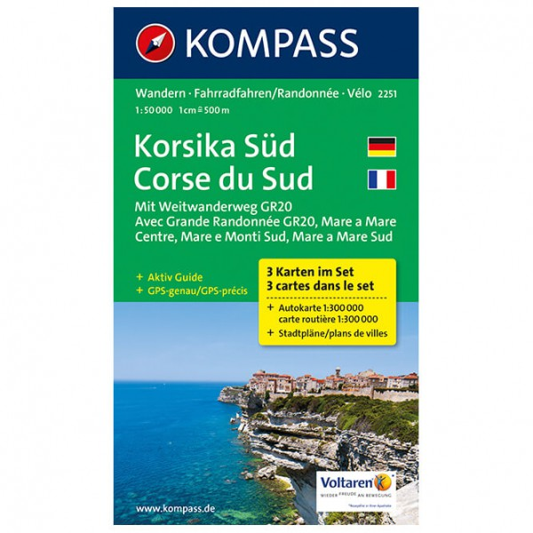 Kompass - Korsika Süd - Hiking map