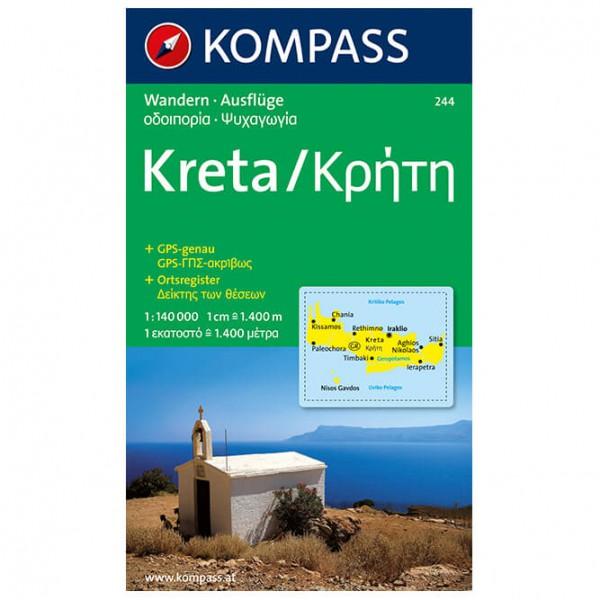 Kompass - Kreta - Vandrekort
