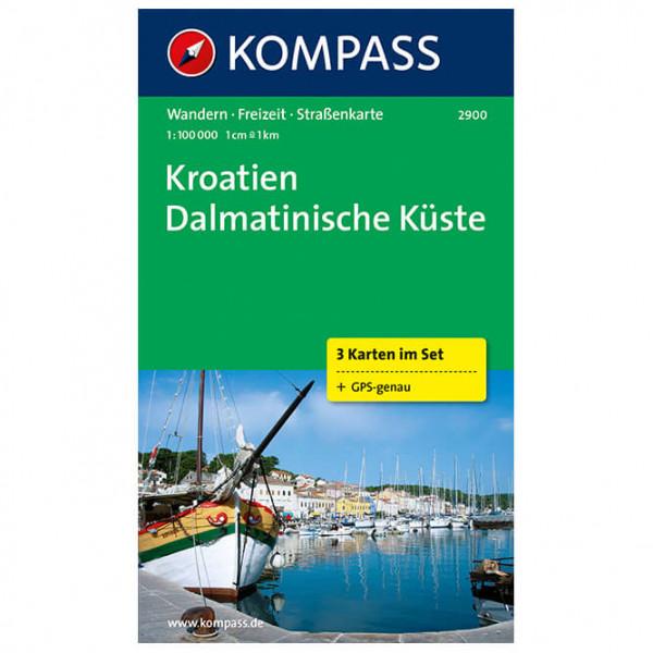 Kompass - Kroatien-Dalmatin - Vandrekort