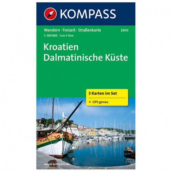 Kompass - Kroatien-Dalmatin - Hiking map